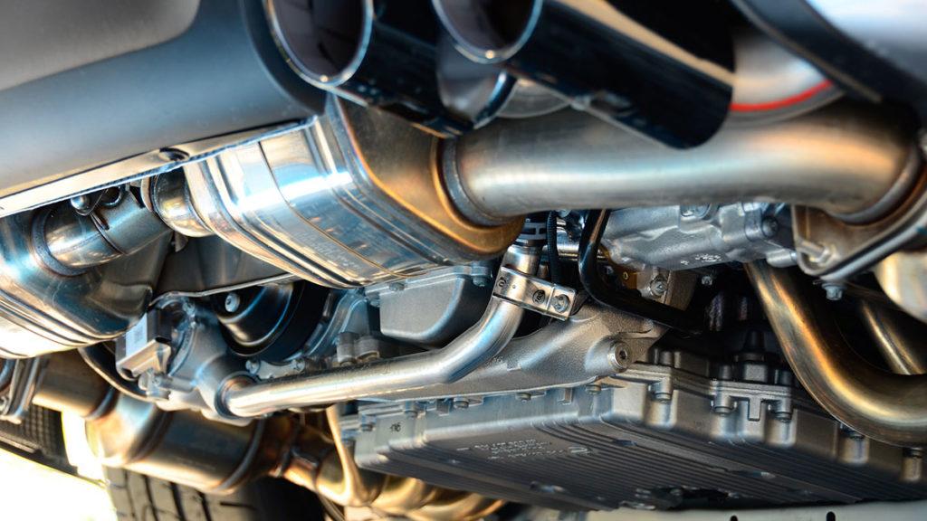 Diesel-Fahrzeug Auspuff